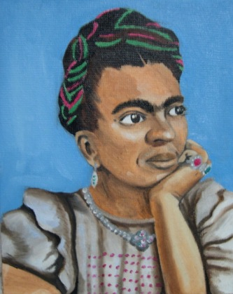 """Portrait of Frida Kahlo"" 8 x 10"", oil on canvas, 2006."