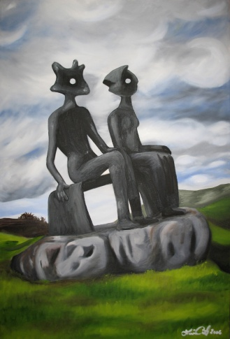 """""""King and Queen,"""" oil on canvas, 16x24"""", 2006"""
