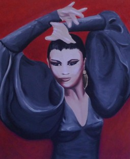 """Flamenco"" (Portrait of La Tania), 18 x 24"", oil on canvas, 2008."